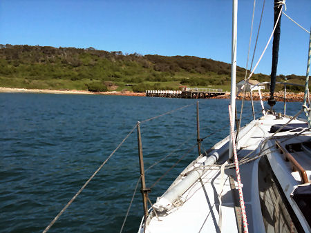 Anchored in the lee of Gabo Island