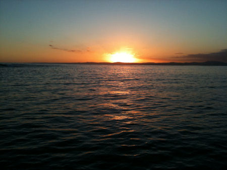 Sunset over Victoria from the lee of Gabo Island