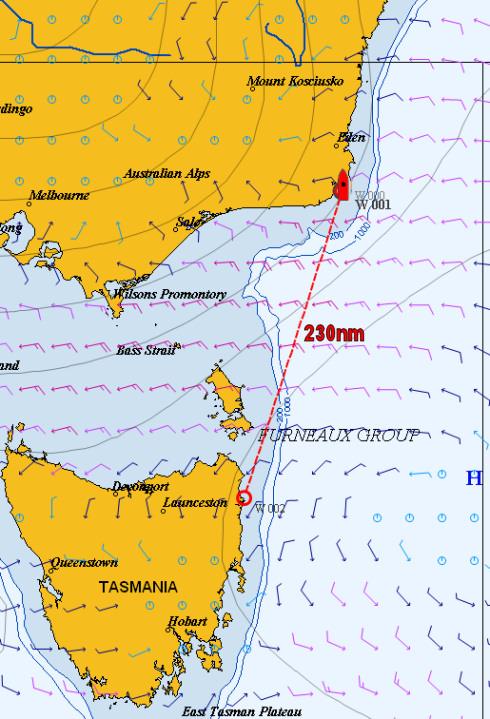 Bass Strait: Gabo Island to St Helens