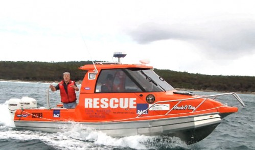 St Helens Marine Rescue Vessel Break O'Day (thank you Kelly Osmand for photo...)